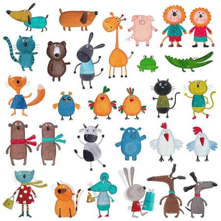 rana caricatura: Mega colección de animales de dibujos animados