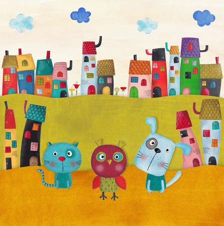 for children: illustration for children Stock Photo