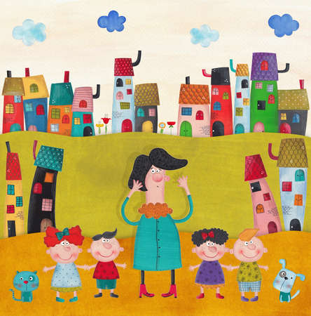 children book: illustration for children Stock Photo