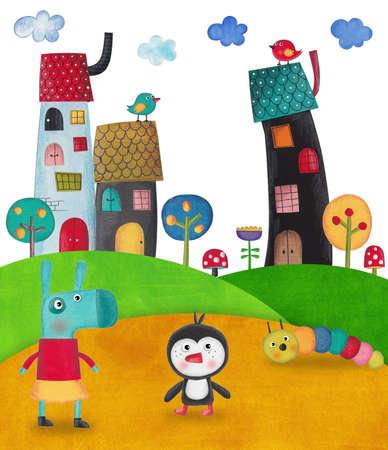 for: illustration for children Stock Photo
