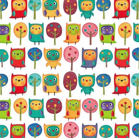 fondo para bebe: Patrón de acuarelas pintadas para papel de regalo