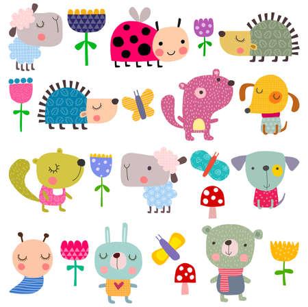 hadas caricatura: Conjunto de animales dom�sticos