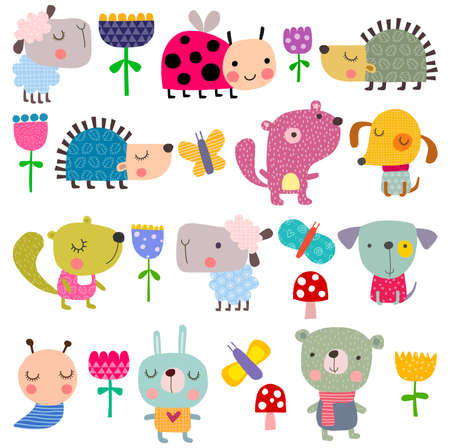 baby stickers: Set of pets