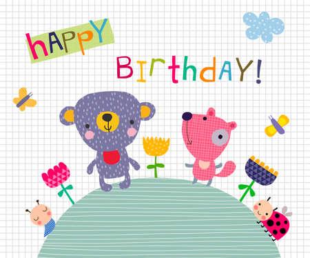kid illustration: Greeting card