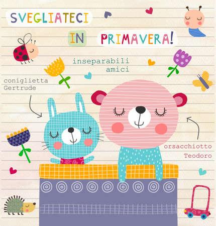 fondo para bebe: Ilustraci�n para los ni�os italianos