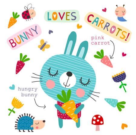 baby animal: Illustration for children