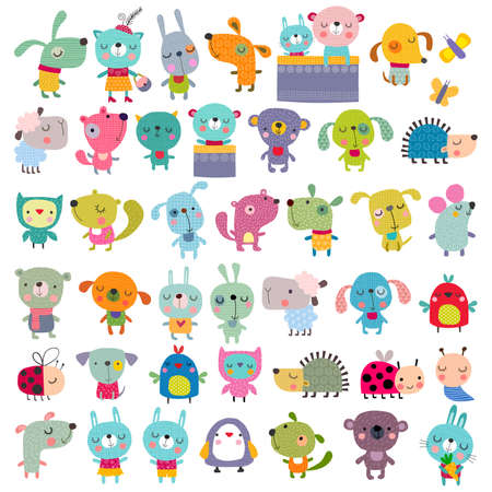 fondo para bebe: Mega conjunto de mascotas