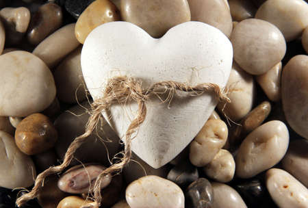 heart of stone: My heart is tied to you Stock Photo