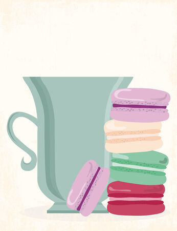 tea cups books and love, illustration vector format Vector