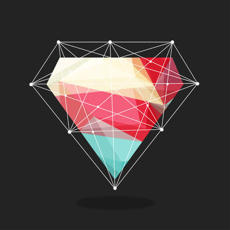 diamonds are a girls best friend, illustration vector format