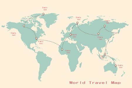 worl: infographic worl map elements illustration vector format