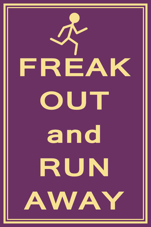 freak: freak out and run illustration vector format Illustration