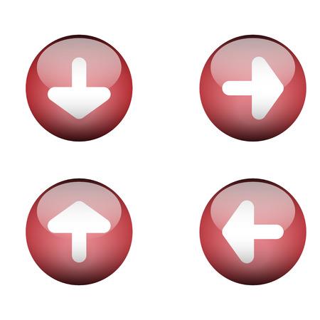 gibbose:  web buttons for website or app illustration vector format