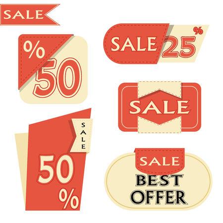 sale offer promotion label illustration vector format Vector