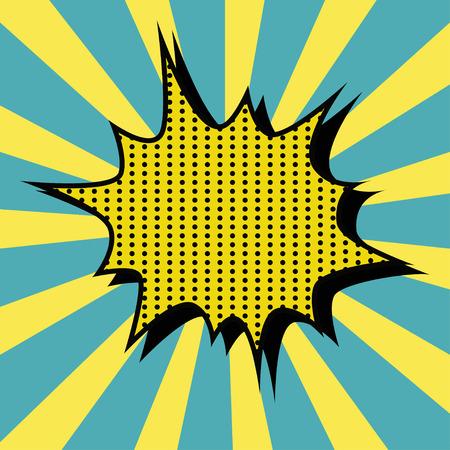 craquelure: pop art des textes de bulle Illustration