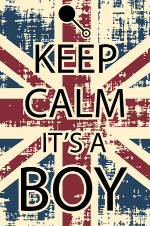 keep calm its aboy, illustration vector format