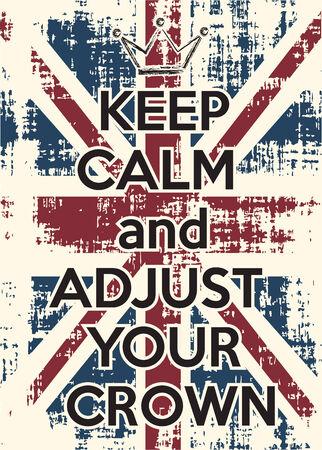 adjust: adjust your crown, illustration in vector format