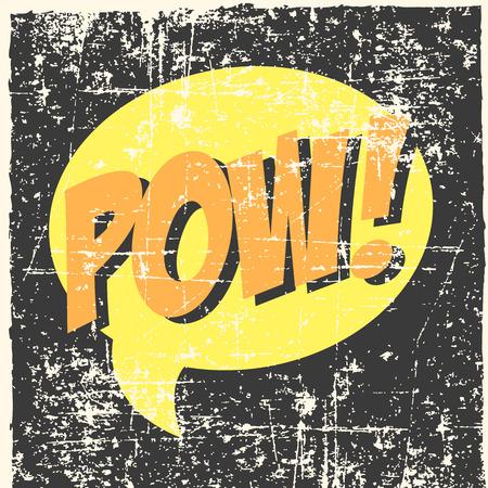 pow pop art background Vector