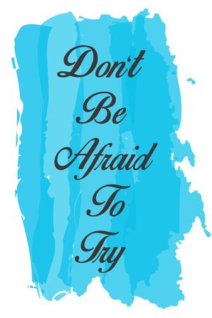 afraid: dont be afraid illustration