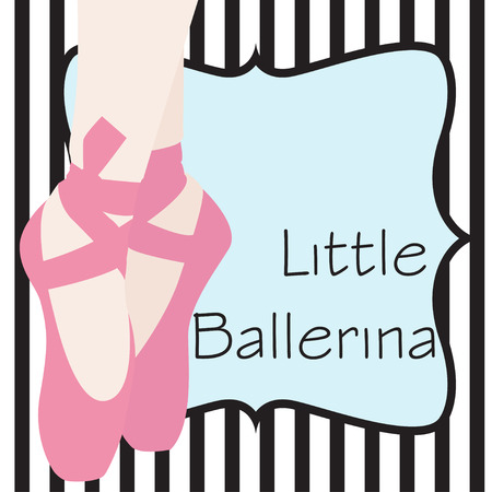ballet shoes background illustration Vector