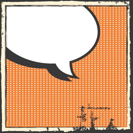 comic pop art background, illustration in vector format Vector