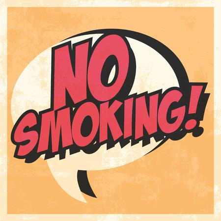 prohibido fumar: no fumar arte pop de fondo, ilustraci�n en formato vectorial Vectores