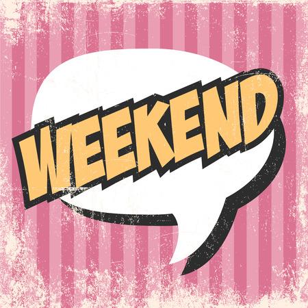 positiveness: fin de semana de arte pop de fondo Vectores