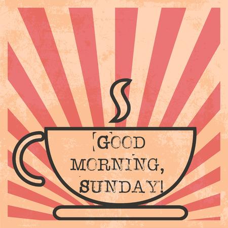 good morning: morning coffee pop art illustration