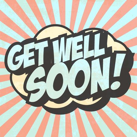 get well soon illustration Vector
