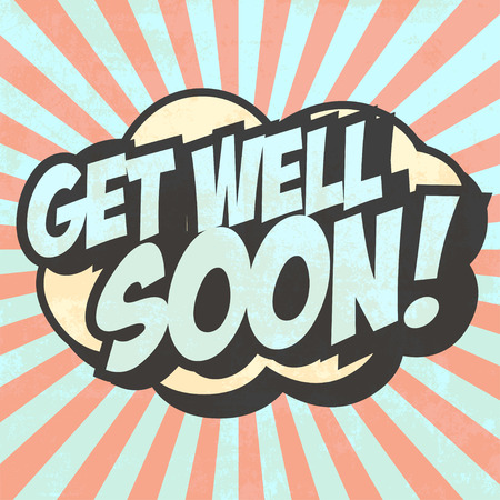get well soon illustration Ilustrace