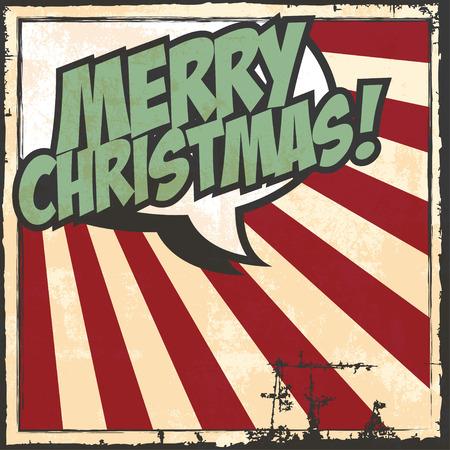 christmassy: merry christmas greeting card Illustration