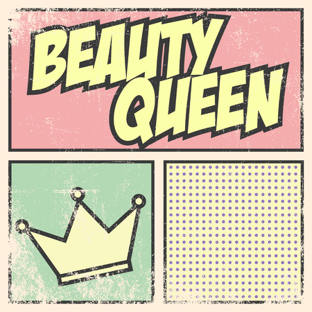 beauty queen: beauty queen background, illustration Illustration