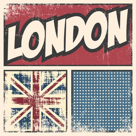 london retro background, illustration