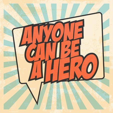 hero pop art, illustration in vector format