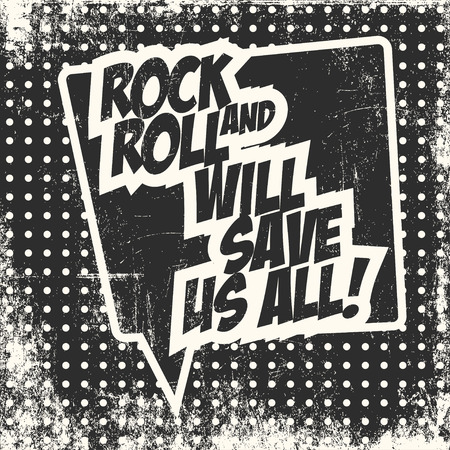 rock and roll, illustration in vector format Illustration