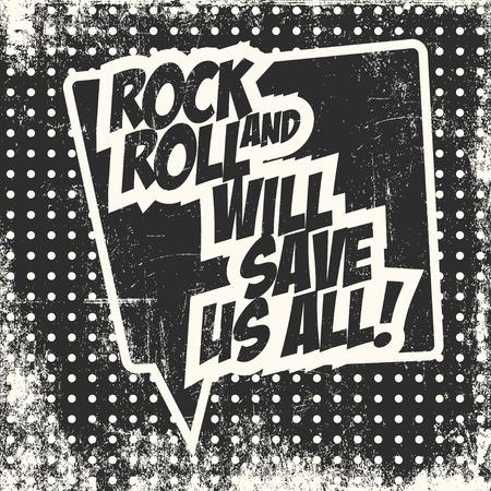 rock and roll, illustration in vector format Illustration