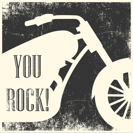 you rock background, illustration in vector format