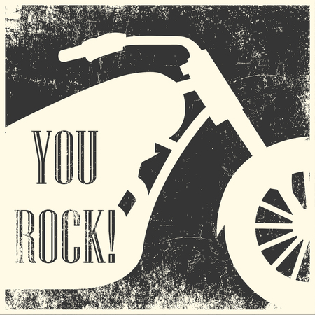 you rock background, illustration in vector format