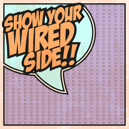 wider: wired side background, illustration in vector format
