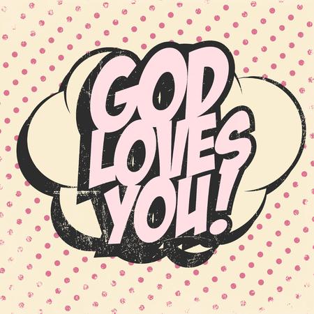 god loves you background, illustration in vector format Vector