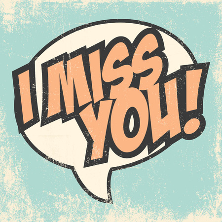 miss you background, illustration in vector format