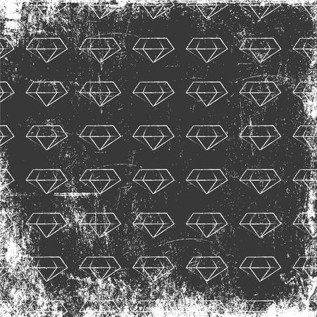 diamond background: retro diamond background, illustration in vector format