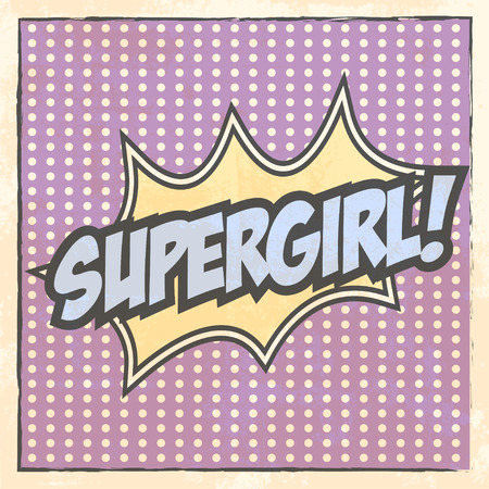 supergirl: super girl beckground, illustration in vector format Illustration