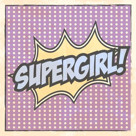 super girl beckground, illustration in vector format Vectores
