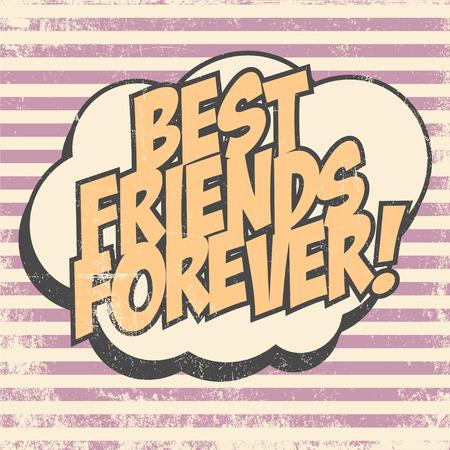 best friends forever: best friends forever, illustration in vector format Illustration