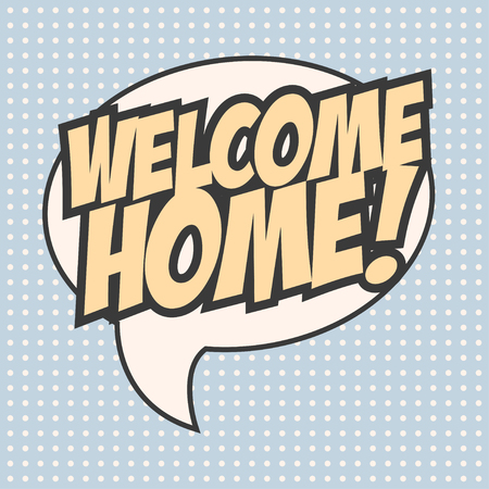 welcome home background, illustration in vector format Vectores