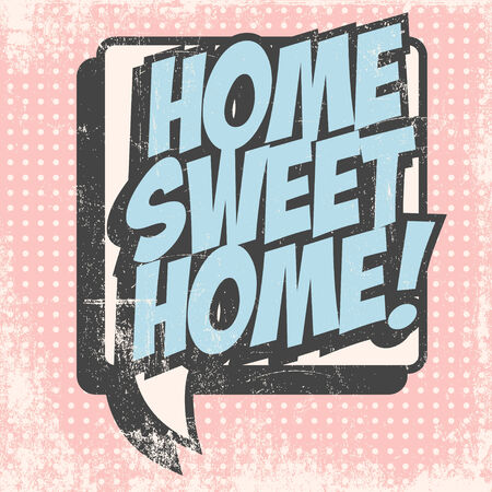 welcome home: welcome home background, illustration in vector format Illustration