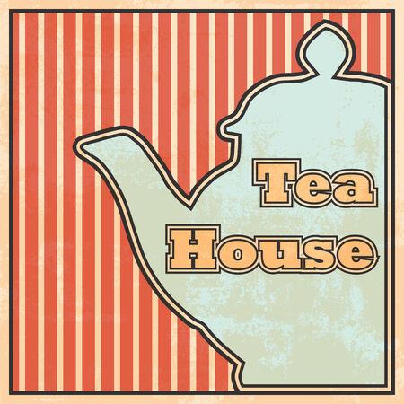 tea house: tea house background, illustration in vector format