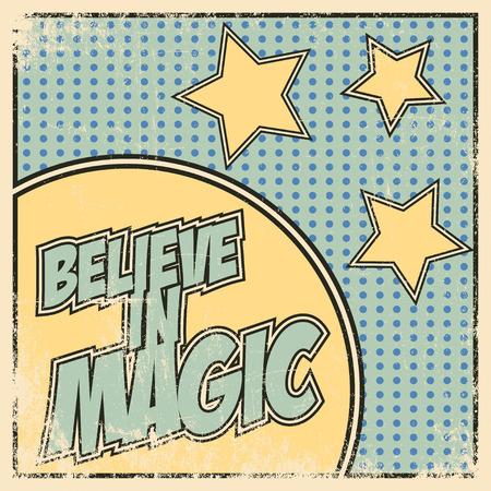 believe: believe in magic, illustration in format