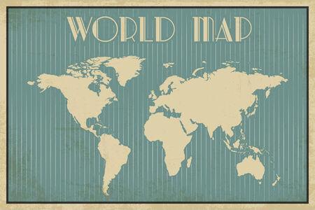 art deco word map, illustration in vector format